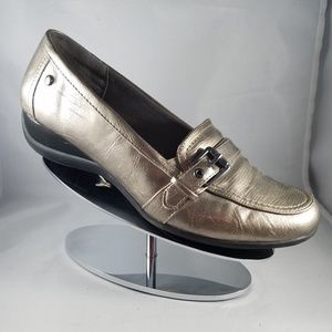 Life Stride Silver Metallic Flat with Buckle